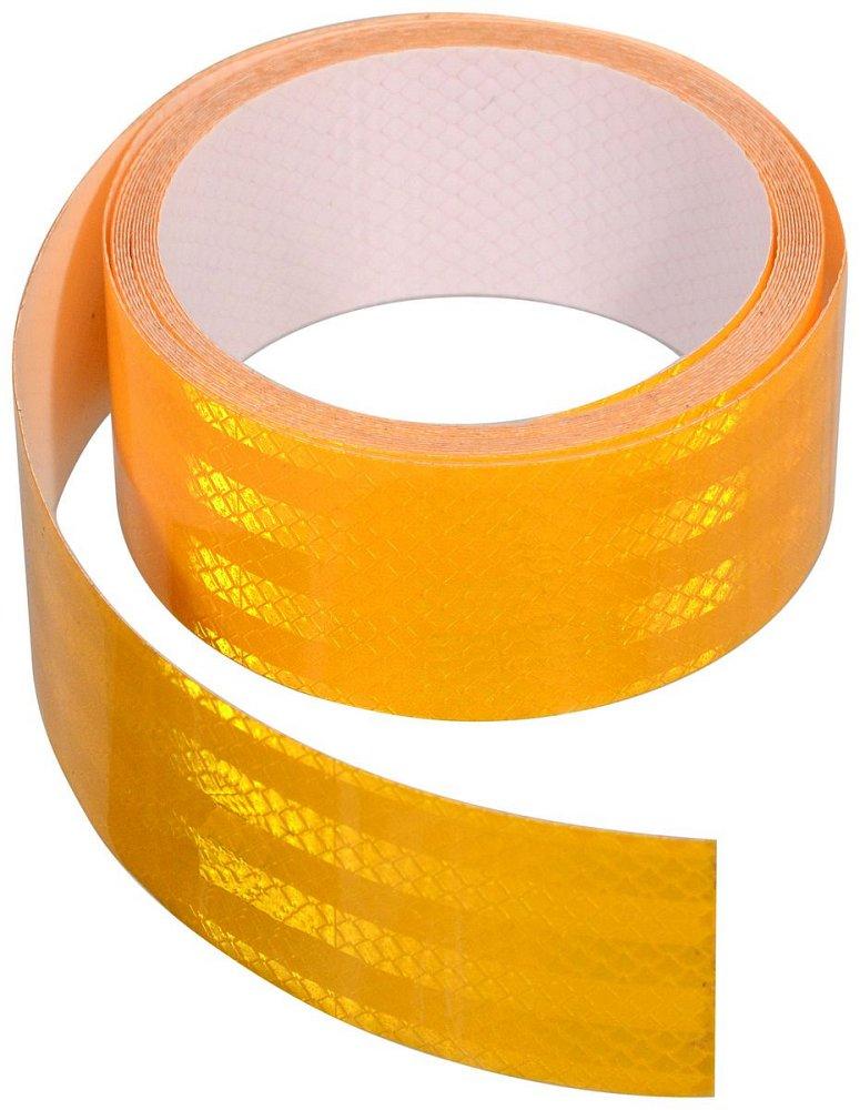 Compass Samolepící páska reflexní 1m x 5cm žlutá