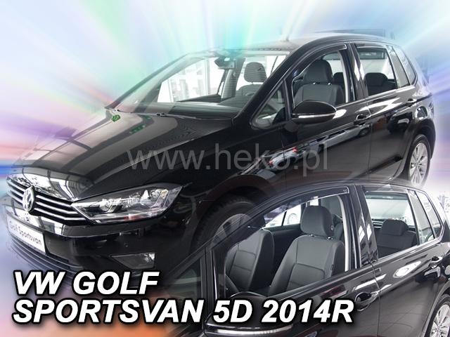 Heko Ofuky oken Volkswagen VW Golf VII 2014- (+zadní) Sportsvan sada 4 ks