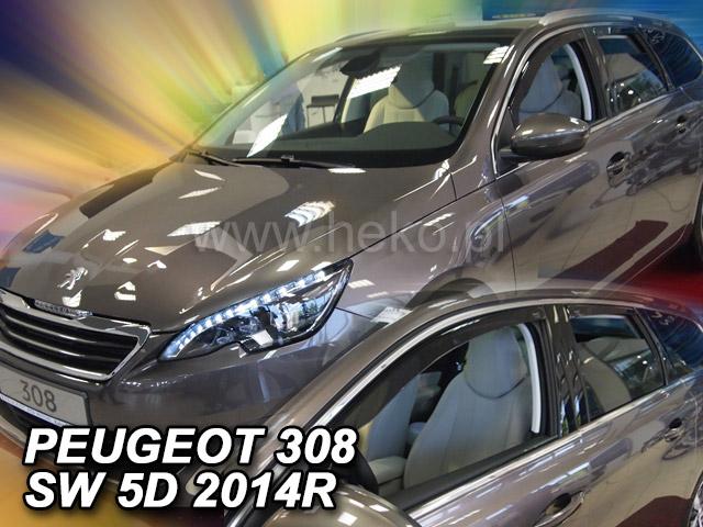 Heko Ofuky oken Peugeot 308 II 2014- (+zadní) SW sada 4 ks