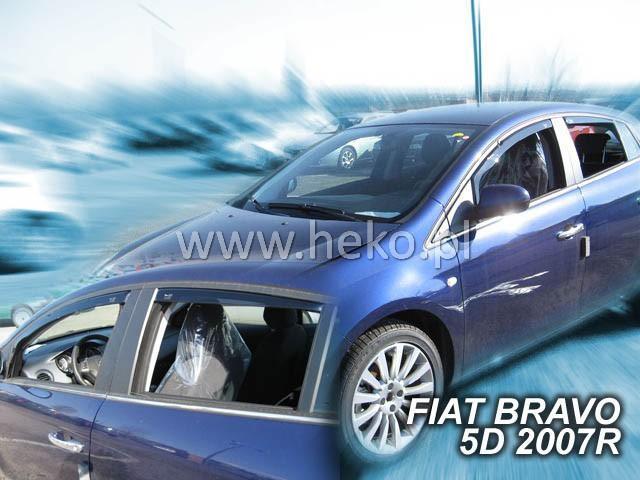 Heko Ofuky oken Fiat Bravo 2007- (+zadní) sada 4 ks