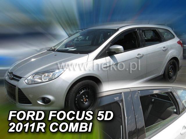 Heko Ofuky oken Ford Focus III 2011- (+zadní) combi sada 4 ks