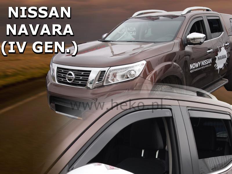 Ofuky oken Nissan Navara D23 2015-2017 (+zadní)