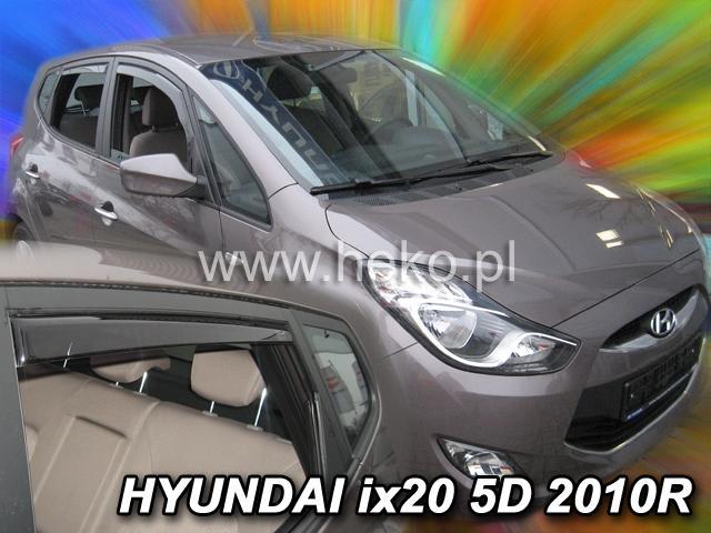 Heko Ofuky oken Hyundai ix20 2010- (+zadní) sada 4 ks