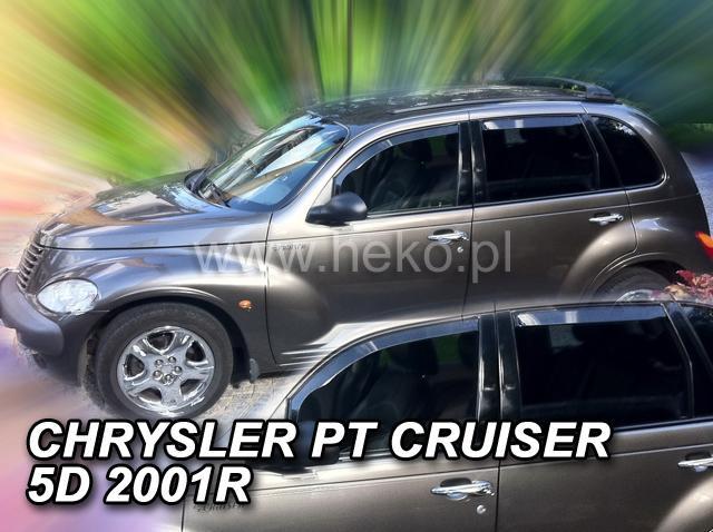 Heko Ofuky oken Chrysler PT Cruiser 2002- (+zadní) sada 4 ks