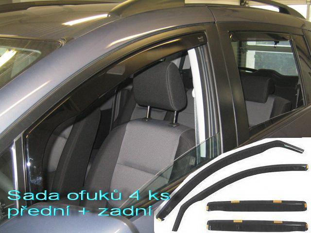 Heko Ofuky oken Kia Rio 00--05 (+zadní) sada 4 ks