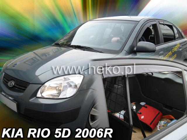 Heko Ofuky oken Kia Rio 2005- (+zadní) sed sada 4 ks