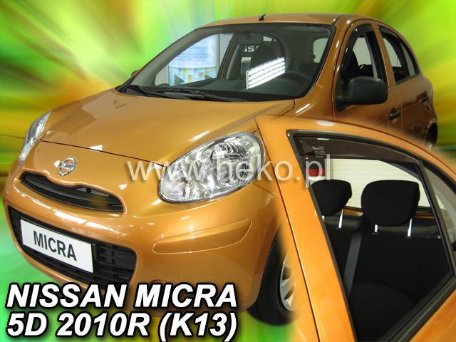 Heko Ofuky oken Nissan Micra K13 11/2010- (+zadní) sada 4 ks