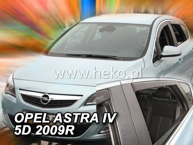 Heko Ofuky oken Opel Astra IV J 2009- (+zadní) sed sada 4 ks