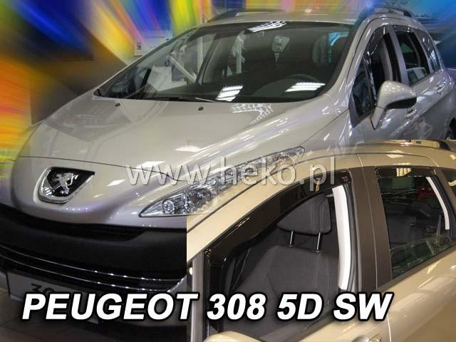 Heko Ofuky oken Peugeot 308 2007- (+zadní) SW sada 4 ks