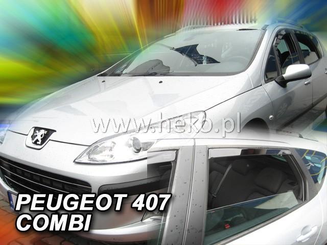 Heko Ofuky oken Peugeot 407 2004- (+zadní) SW sada 4 ks