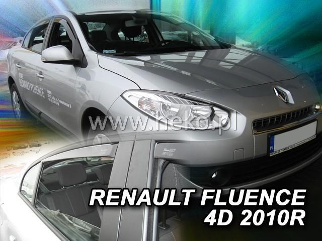 Heko Ofuky oken Renault Fluence 2010- (+zadní) sada 4 ks
