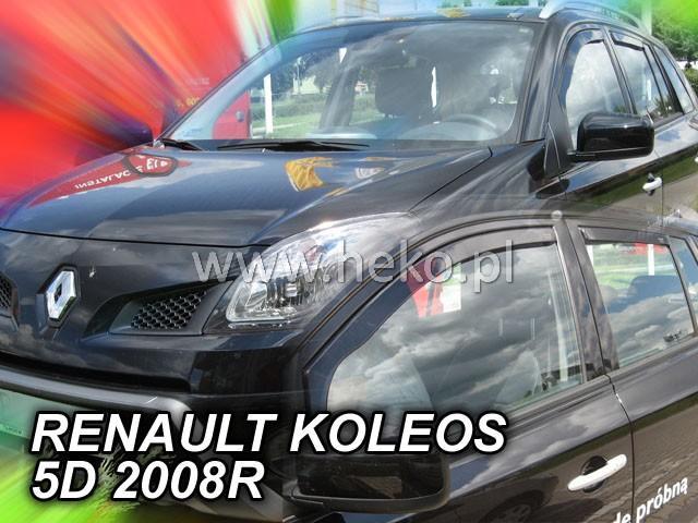 Heko Ofuky oken Renault Koleos 2008- (+zadní) sada 4 ks