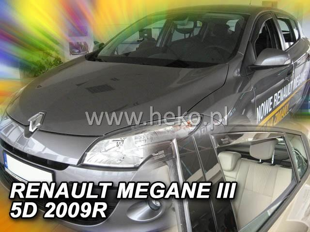 Heko Ofuky oken Renault Megane III 2008- (+zadní) sada 4 ks