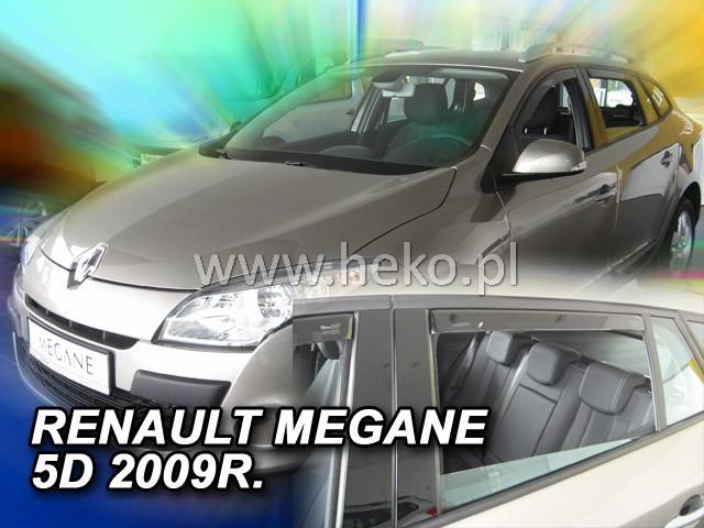 Heko Ofuky oken Renault Megane III 2009- (+zadní) Grandtour sada 4 ks