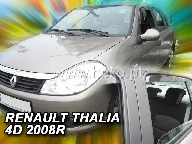 Heko Ofuky oken Renault Thalia II 2008- (+zadní) sada 4 ks