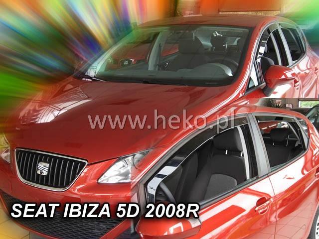 Heko Ofuky oken Seat Ibiza 2008- (+zadní) sada 4 ks