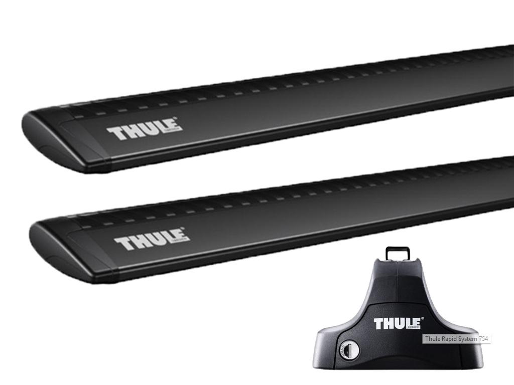 Střešní nosiče Thule 754+WingBar černé tyče 969+kit