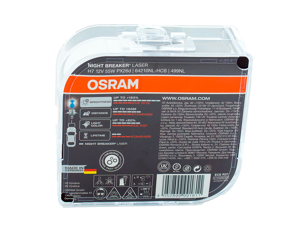 Autožárovky OSRAM H7 Night Breaker Unlimited 12V 55W PX26d