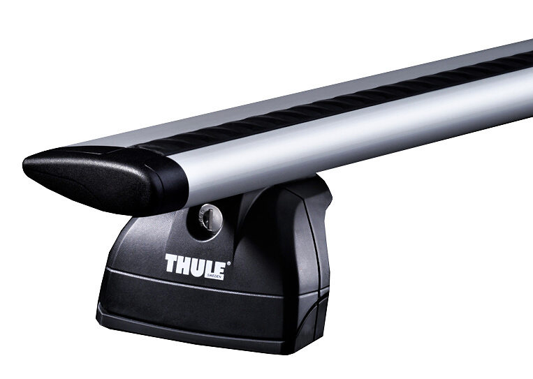 Střešní nosiče Thule 753+WingBar tyče 969+kit • na integrované podélníky