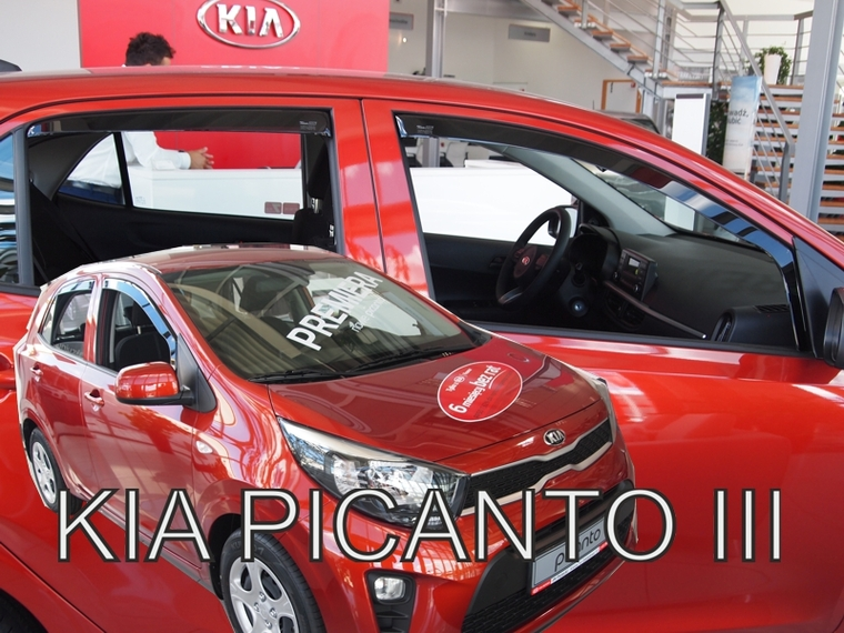 Ofuky oken KIA Picanto III 2017- (+zadní)