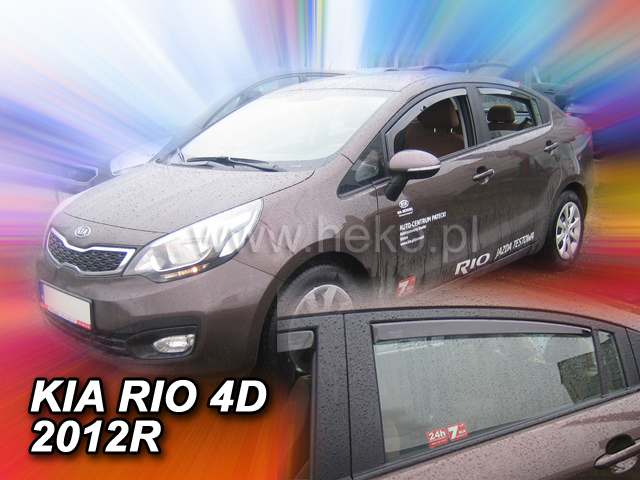 Heko Ofuky oken Kia Rio 2012- (+zadní) sedan sada 4 ks