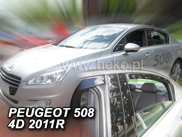 Heko Ofuky oken Peugeot 508 2011- (+zadní) sedan sada 4 ks