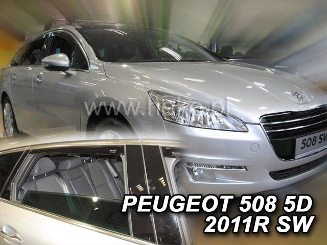 Heko Ofuky oken Peugeot 508 2011- (+zadní) SW sada 4 ks