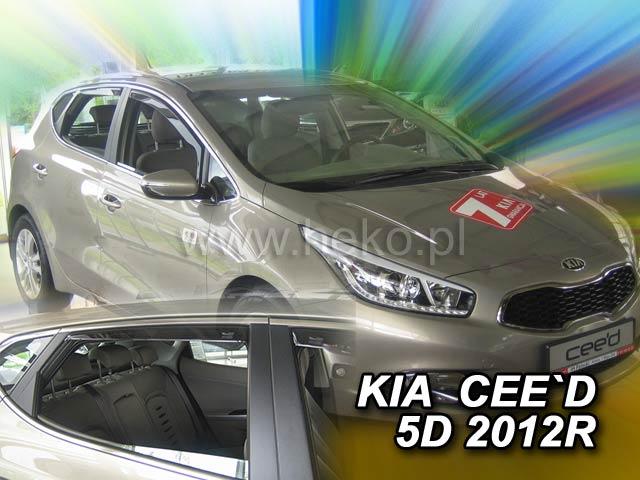 Heko Ofuky oken Kia Ceed 2012- (+zadní) sada 4 ks