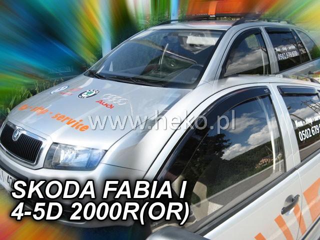 Heko Ofuky oken Škoda Fabia I 2000- (+zadní) sada 4 ks