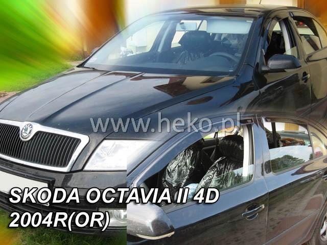 Heko Ofuky oken Škoda Octavia II 2004- htb (+zadní) sada 4 ks