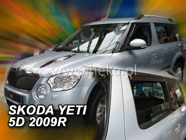 Heko Ofuky oken Škoda Yeti 2009- (+zadní) sada 4 ks