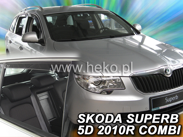Heko Ofuky oken Škoda Superb II 2009- combi (+zadní) sada 4 ks
