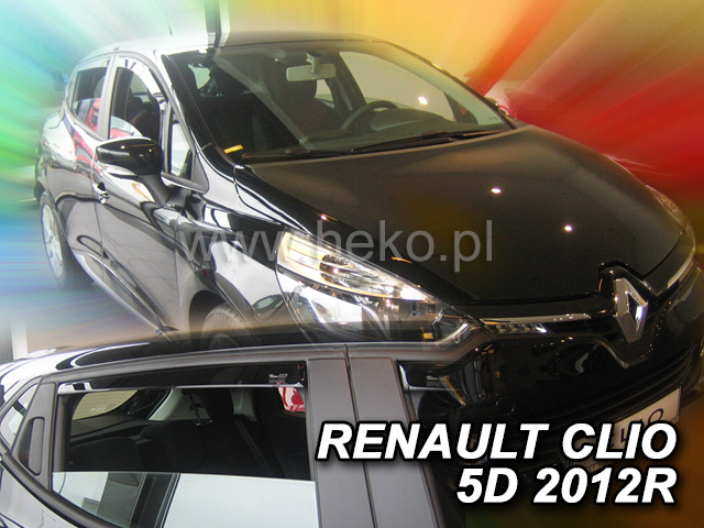 Heko Ofuky oken Renault Clio IV 2012- (+zadní) sada 4 ks