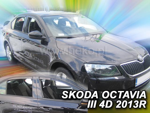 Heko Ofuky oken Škoda Octavia III 2013- (+zadní) ltb sada 4 ks