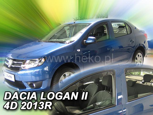 Heko Ofuky oken Dacia Logan II 2013- (+zadní) sada 4 ks